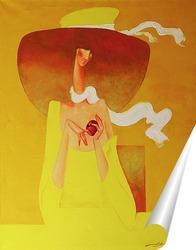 Постер Белый шарфик, лёгкий ветерок