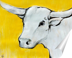 Постер Желтый бык