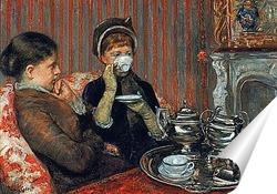 Постер За чашкой чая.