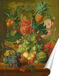 Постер Фрукты и цветы