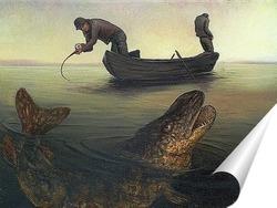Постер На дальних забросах ловится крупная рыба