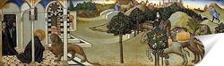 Постер Святой Ироним и лев, фрагмент пределлы алтаря