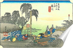 Постер 37-я станция: Фуджикава.