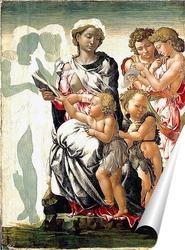 Постер Мадонна с ребенком, Святым Иоанном и ангелами