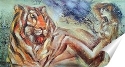 Постер Две тигрицы