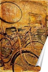 Постер Ретро велосипеды