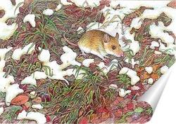 Постер Снег на траве. Скоро зима...