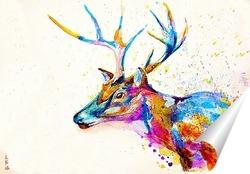 Постер Молодой олень