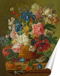 Постер Цветы в вазе