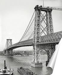 Постер Вильямсбург мост из Бруклина, 1904