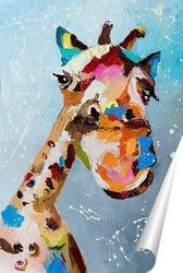 Постер Смешной жираф