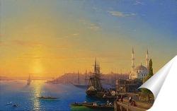 Постер Вид Константинополя и Босфора