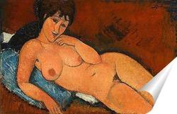 Постер Обнаженная на синей подушке, 1917