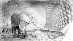Постер Слон на мосту