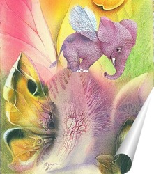 Постер Слон на вершине