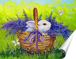 Постер Кролик в лаванде