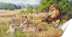 Постер Львы на отдыхе