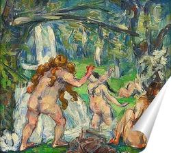 Постер Три купальщицы 1875
