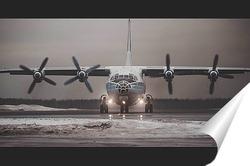 Постер Одинокий самолет