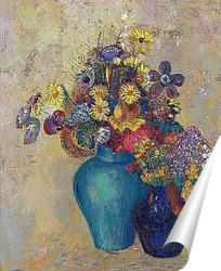 Постер Две вазы с цветами