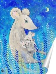 Постер Мама мышка и мышата