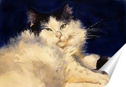 Постер Ленивый кот