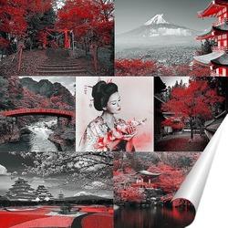 Постер Коллаж Япония