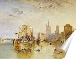 Постер Кельн - приход Пакет-Бота, вечер, 1826 год