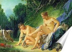 Постер Диана отдыхает после ванны, 1742