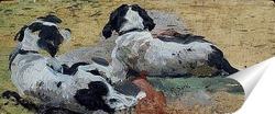 Постер Две собаки