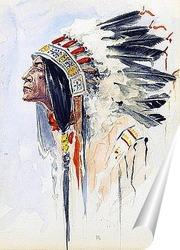 Постер Индейский вожак