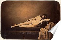 Постер Обнаженная женщина, на диване