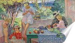 Постер Проба фруктов на террасе в Сент Максим