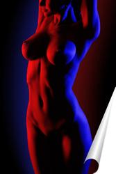 Постер Red&Blue
