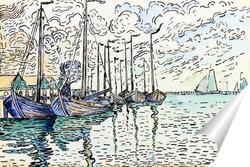 Постер Волендам, рыбацкие лодки