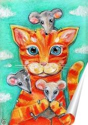 Постер Кошка и мышки