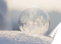 Постер Мыльный пузырь на снегу