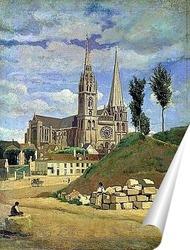 Постер Кафедральный собор в Шартре