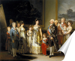 Постер Семейный портрет короля Карла IV (280 х 336)