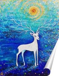 Постер Волшебный олень