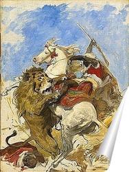 Постер Лев и Мавр