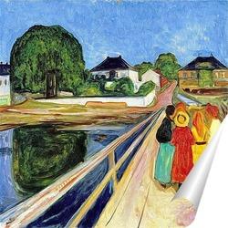 Постер Девушки на мосту