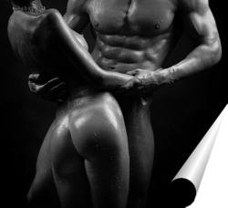 Постер Мужчина и женщина с красивыми телами