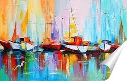 Постер Лодки у пристани