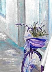 Постер Велосипед с лавандой