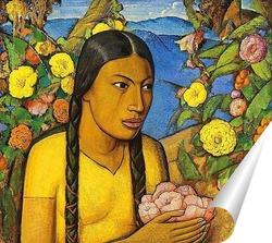 Постер Хуанита среди цветов