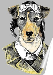 Постер Собака летчик