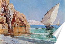 Постер Прибывающие лодки