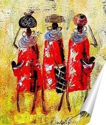 Постер Африканцы в красном.