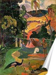 Постер Пейзаж с павлинами. 1892